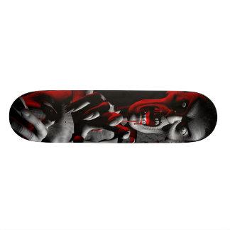 Gnarly zombie skateboard deck