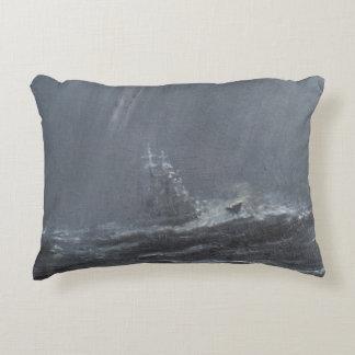 Gneisenau Storm in the North Sea 1940. 2006 Decorative Pillow