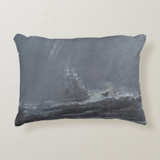 Gneisenau Storm in the North Sea 1940. 2006 Accent Pillow