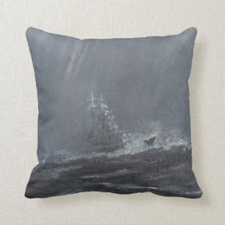 Gneisenau Storm in the North Sea 1940. 2006 Throw Pillow