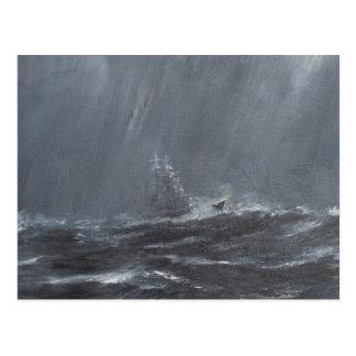 Gneisenau Storm in the North Sea 1940. 2006 Postcard