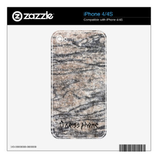 Gneiss phone decals for iPhone 4