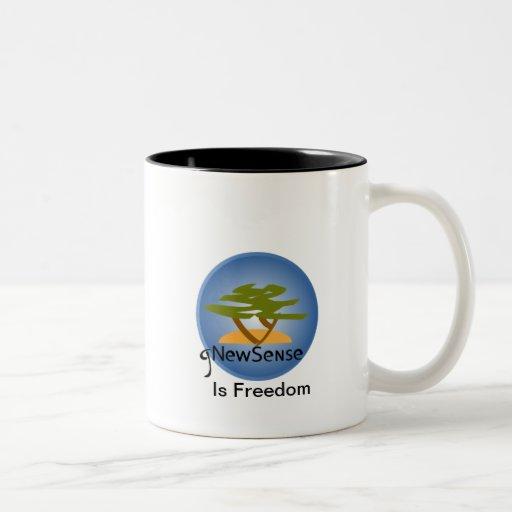 gnewsense cup Two-Tone coffee mug
