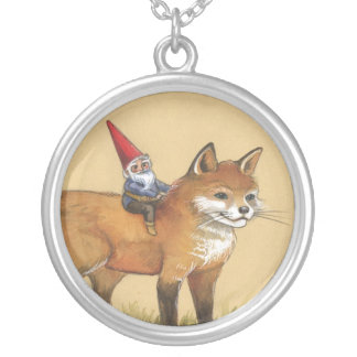 Gnome and Fox Necklace