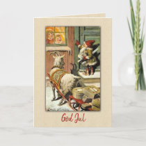GNOME and GOAT Sweden Tomte Nisse Holiday Card