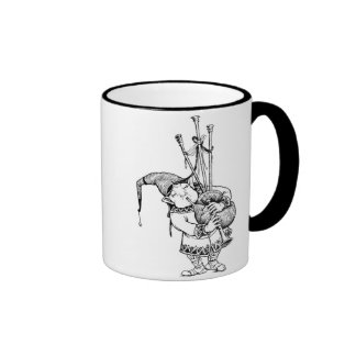 Gnome and His Bagpipes Mugs