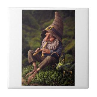 GNOME AND HIS PET GRASSHOPPER TILE