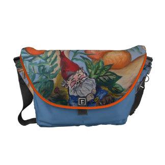 Gnome and Mushrooms Messenger Bag