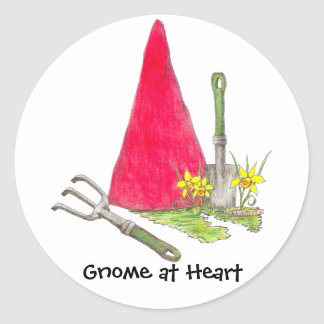 Gnome at Heart Stickers