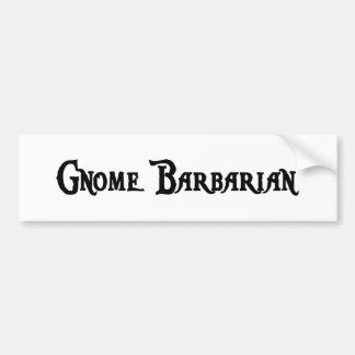 Gnome Barbarian Bumper Sticker