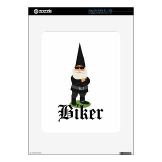 Gnome Biker iPad Decals