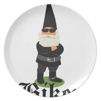 Gnome Biker Plate