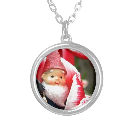 Gnome Blossom Silver Plated Necklace