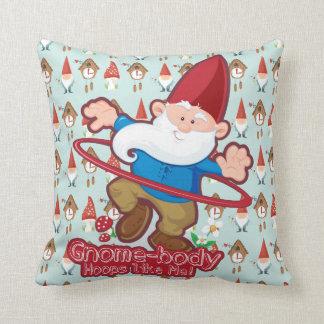 Gnome-body: Throw pillows, square Throw Pillow