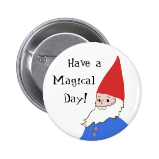 Gnome Button - Magical Day