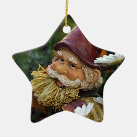 Gnome Ceramic Ornament