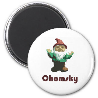 Gnome Chomsky 2 Inch Round Magnet