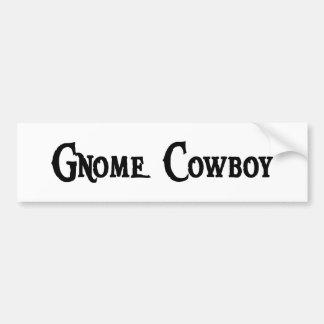 Gnome Cowboy Bumper Sticker Car Bumper Sticker
