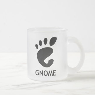 Gnome (desktop environment) frosted glass coffee mug