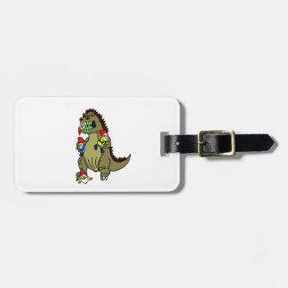 Gnome Eating Monster Travel Bag Tags