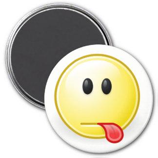 Gnome Face Raspberry Emoji Magnet