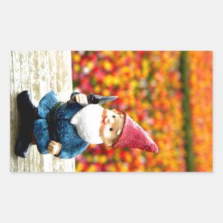 Gnome Field Rectangular Sticker
