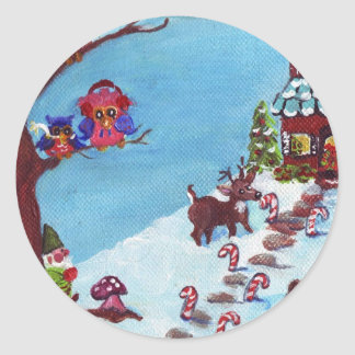 Gnome for the Holidays Envelope Seal or Sticker