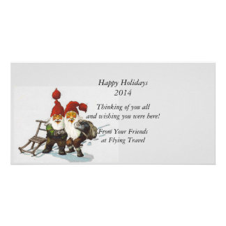 Gnome Friends at Christmas Photo Greeting Card