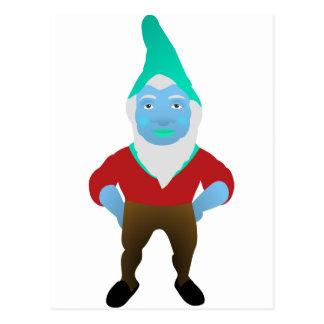 Gnome Garden Little Man Lawn Nome Gnome Underpants Postcard