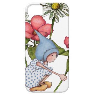 Gnome Girl Picking Flowers, Fanstasy Art iPhone SE/5/5s Case
