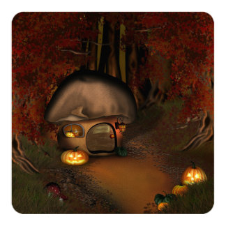 Gnome Halloween Home Invitation