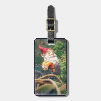 Gnome Hangs Around Succulents Bag Tag