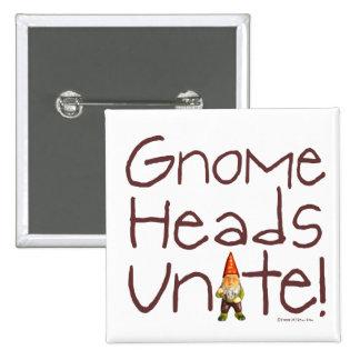 Gnome Heads Unite! Pin