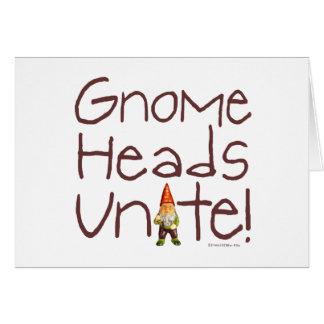 Gnome Heads Unite Greeting Card