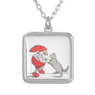 Gnome Holding Cat Paws Necklace