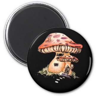 Gnome Home 2 Inch Round Magnet