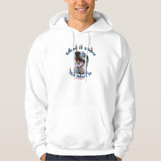 Gnome Home Heart Dog Hoodie