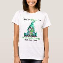 Gnome I wear green for Cardiovascular Disease T-Shirt