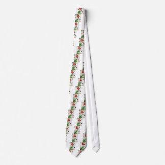 Gnome in a poppy flower neck tie