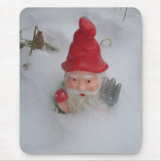 Gnome in Snow Mouse Pad