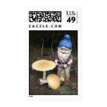 Gnome In The Garden Postage Stamp