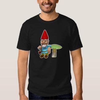 gnome leaning on mushroom T-Shirt