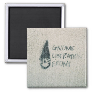 Gnome Liberation Front 2 Inch Square Magnet