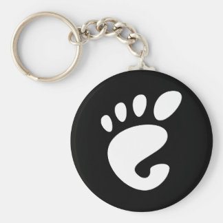 Gnome - Linux - OSS FSF  Basic Round Button Keychain