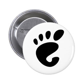 Gnome - Linux - OSS FSF  Pinback Button