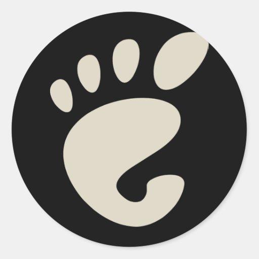 Gnome - Linux - OSS FSF  Round Sticker