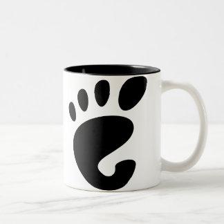 Gnome - Linux - OSS FSF  Two-Tone Coffee Mug