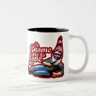 Gnome Me $18.95 Two Toned Coffee Mug