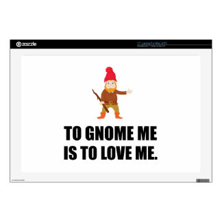 """Gnome Me Is To Love Me 17"""" Laptop Skin"""