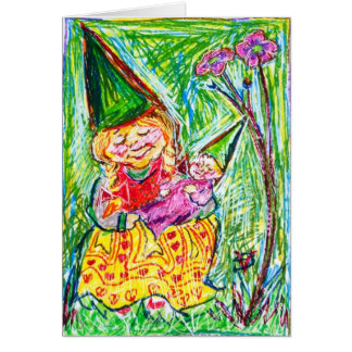 Gnome Mother & Child Greeting Card